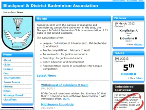 BaddersWeb is well specced with club, news, league, cup, tournament pages and more.